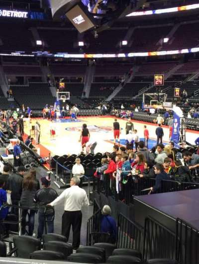The Palace of Auburn Hills, section: 109, row: D, seat: 3