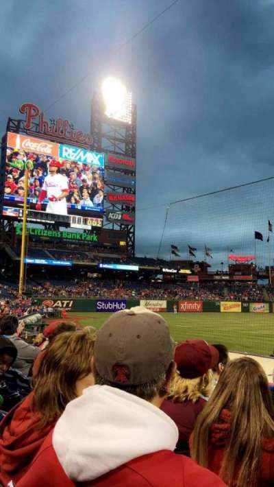 Citizens Bank Park, section: 131, row: 4, seat: 6