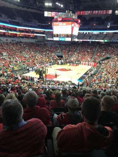 KFC Yum! Center, section: 110, row: EE, seat: 9