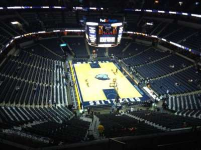FedEx Forum, section: 231, row: F, seat: 1
