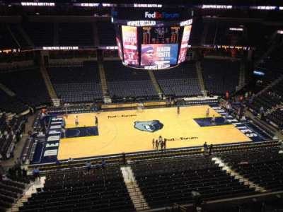 FedEx Forum, section: 224, row: A, seat: 19