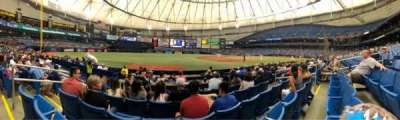 Tropicana Field, section: 125, row: K, seat: 4