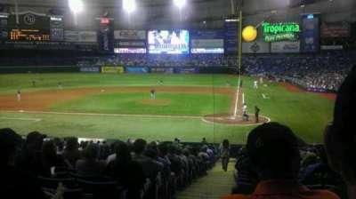 Tropicana Field, section: 107, row: JJ, seat: 1