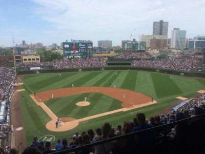 Wrigley Field, section: 524, row: 1, seat: 109