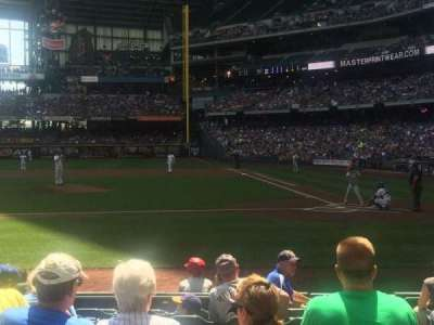 Miller Park, section: 121, row: 10, seat: 2