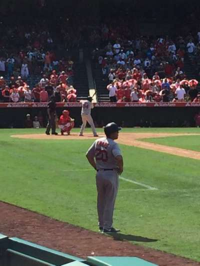 Angel Stadium, section: F126, row: B, seat: 18