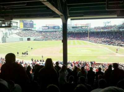 Fenway Park, section: Grandstand 25, row: 17, seat: 23