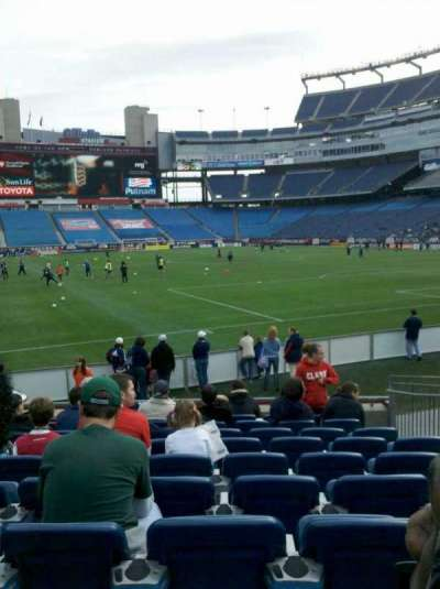 Gillette Stadium, section: 101, row: 10, seat: 6