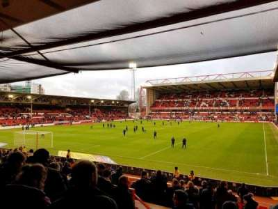 City Ground, section: W2, row: V, seat: 76