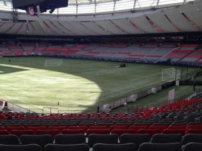 BC Place, section: 207, row: U, seat: 8