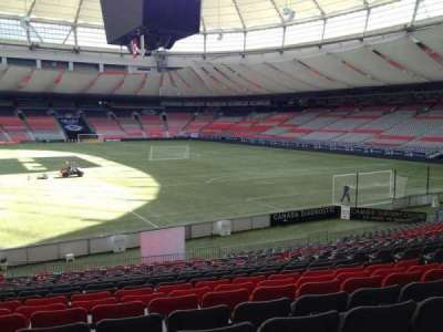BC Place, section: 204, row: U, seat: 8