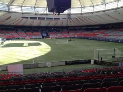 BC Place, section: 203, row: U, seat: 6