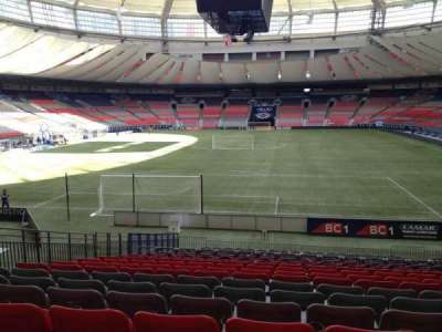 BC Place, section: 254, row: U, seat: 8