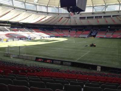 BC Place, section: 252, row: U, seat: 8