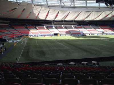 BC Place, section: 246, row: U, seat: 8