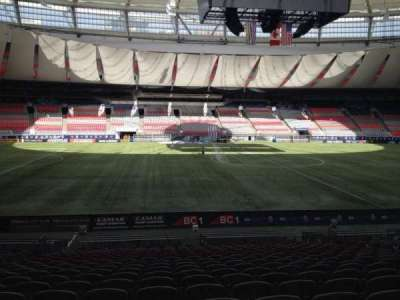 BC Place, section: 243, row: U, seat: 8