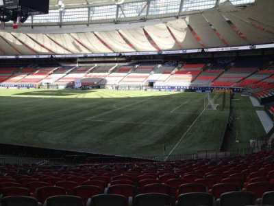 BC Place, section: 236, row: U, seat: 8