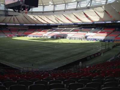 BC Place, section: 234, row: U, seat: 8