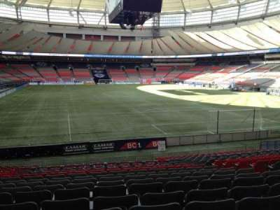 BC Place, section: 230, row: U, seat: 7
