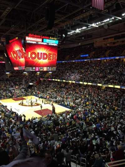 Quicken Loans Arena, section: 131, row: 26, seat: 14