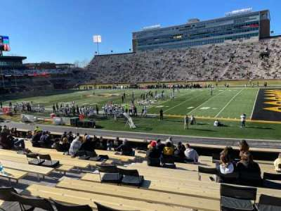 Faurot Field, section: 109, row: 21, seat: 20