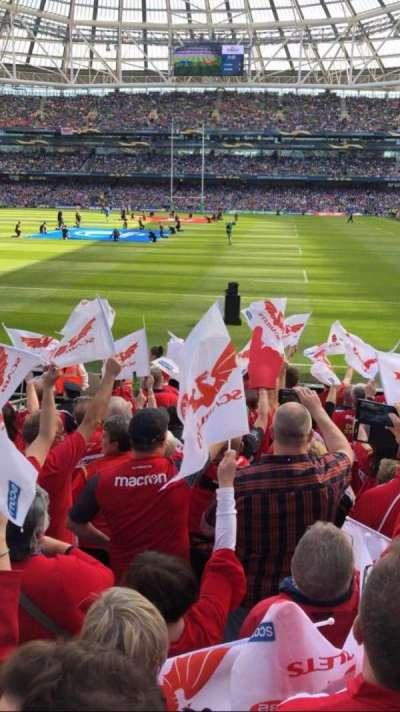 Aviva Stadium, section: 134, row: P, seat: 10