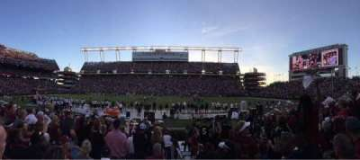 Williams-Brice Stadium, section: 21, row: 11, seat: 1