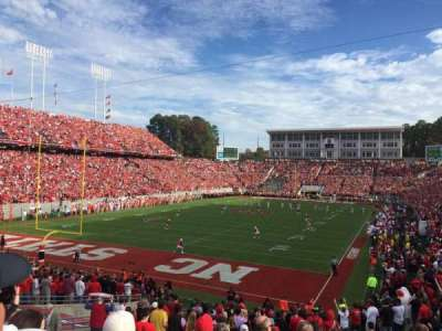 Carter-Finley Stadium, section: 219, row: H, seat: 4