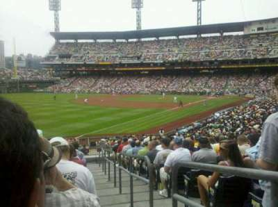 PNC Park, section: 131, row: r, seat: 1