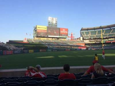 Angel Stadium, section: F105, row: G, seat: 10