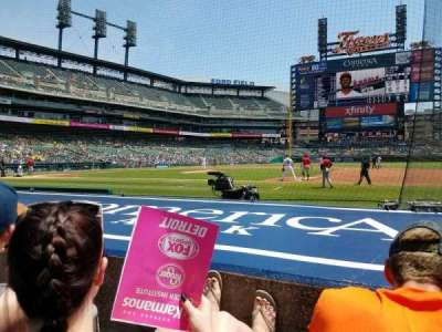 Comerica Park, section: 120, row: 8, seat: 1