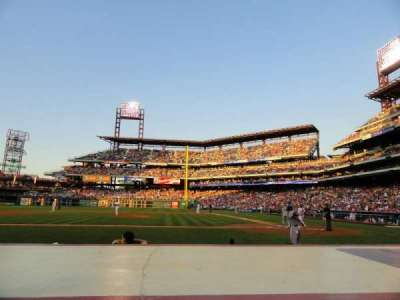 Citizens Bank Park, section: 129, row: 2, seat: 7