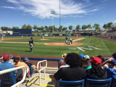 Maryvale Baseball Park, section: BX102, row: G, seat: 12