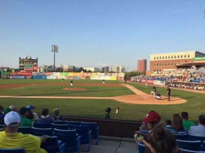Frawley Stadium, section: 18, row: 8, seat: 10
