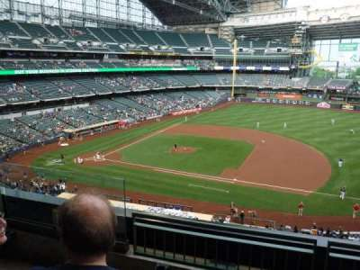 Miller Park, section: 318, row: 3, seat: 3