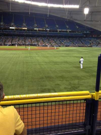Tropicana Field, section: 142, row: U, seat: 22