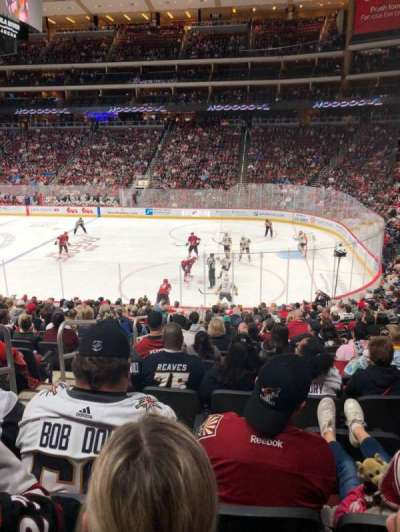 Gila River Arena, section: 109, row: S, seat: 21