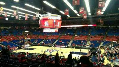 McKale Center, section: 1, row: 23, seat: 15
