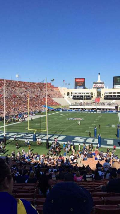 Los Angeles Memorial Coliseum, section: 13L, row: 42, seat: 12