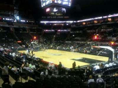 AT&T Center, section: 104A, row: 18, seat: 2