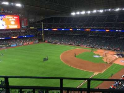 Minute Maid Park, section: 406, row: 1, seat: 3