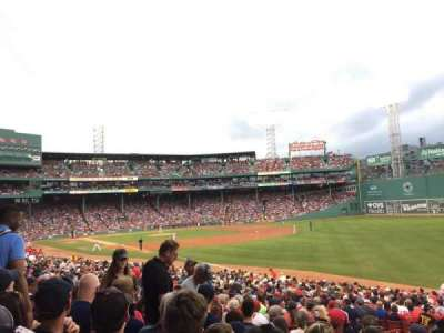Fenway Park, section: Right Field BOX 94, row: UU, seat: 19