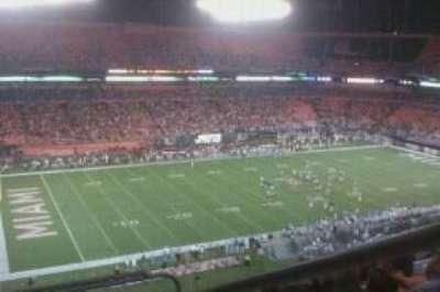 Hard Rock Stadium, section: 447, row: 6