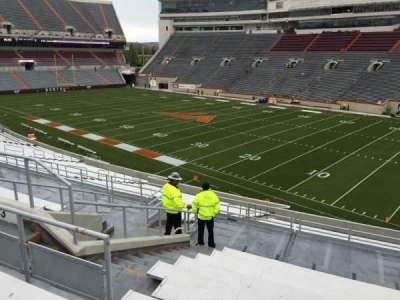 Lane Stadium, section: 3, row: SS, seat: 18