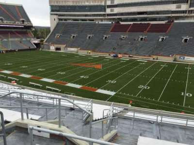 Lane Stadium, section: 5, row: SS, seat: 10