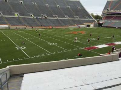 Lane Stadium, section: 4, row: V, seat: 2