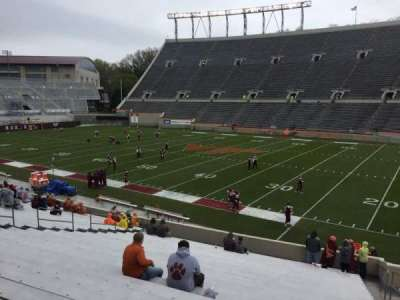 Lane Stadium, section: 16, row: CC, seat: 5