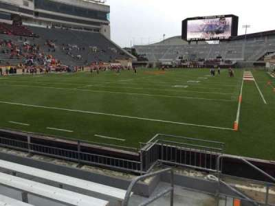 Lane Stadium, section: 101, row: F, seat: 13