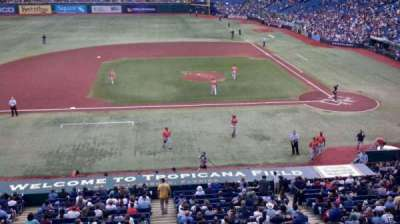 Tropicana Field, section: 209, row: A, seat: 2