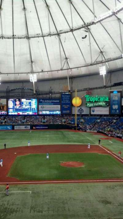 Tropicana Field, section: 209, row: A, seat: 3